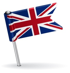 British pin icon flag vector image