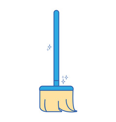 broom sweep equipment to clean house vector image