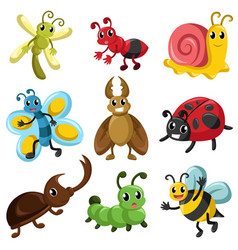 bug icons vector image