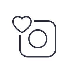 Camera icon camera and heart eps 10 vector