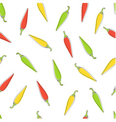 chili pepper seamless vegetable background design vector image