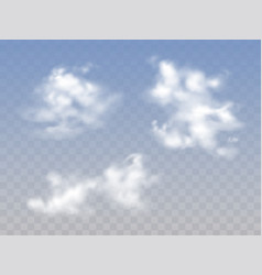 clouds in sky realistic vector image