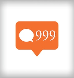 Comment orange icon 999 comments vector image