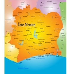 Cote d Ivoire map vector image