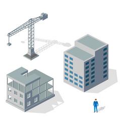 crane industrial structure vector image
