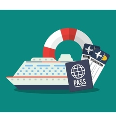 Cruise of travel and tourism concept vector