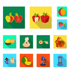 design test and synthetic sign set of vector image