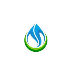 droplet water bio abstract company logo vector image