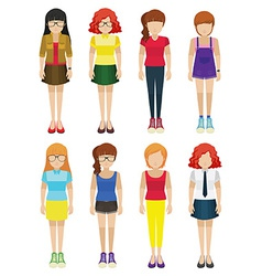 Faceless ladies vector image