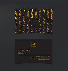 Fashion elegant black luxury business cards with vector