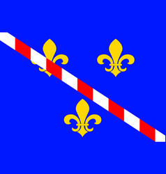 Flag of evreux in eure of normandy is a region of vector
