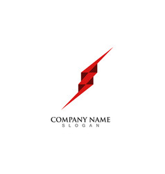 flash thunderbolt logo template vector image