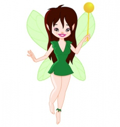 forest fairy vector image