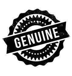 Genuine stamp rubber grunge vector
