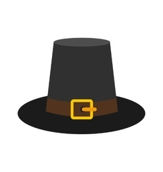 Gorgeous pilgrim hat icon vector
