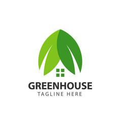 Green house template design vector