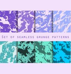 grunge set of seamless pattern with clots and vector image