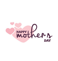 happy mothers day pink heats background im vector image