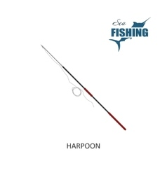Harpoon Item of fishing vector image