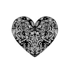 heart shaped ornament vector image