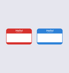 Hello my name is badge template identification vector