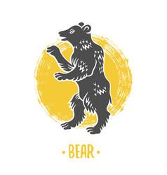 heraldic shields with bear vector image