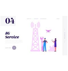 High- speed communication technology website vector