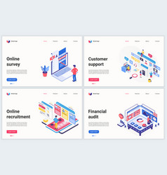 Isometric business recruiting technology vector