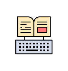 Key keyboard book facebook flat color icon icon vector