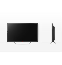Lcd screen mockup tv plasma television vector