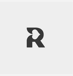 letter r poker logo design template icon element vector image