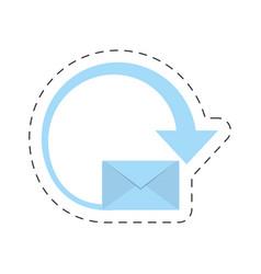 mail envelope courier international vector image