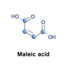 Maleic acid ho2cchchco2h vector