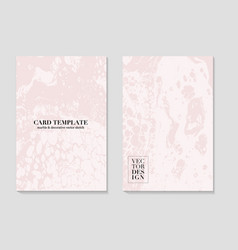 Marble card abstract grunge pattina effect pastel vector