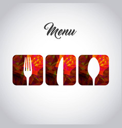 Menu restaurant with cutlery set vector