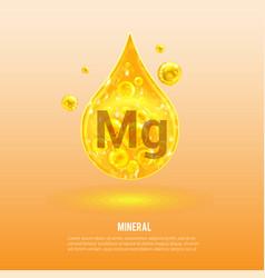 Mineral mg magnesium vitamin complex vector
