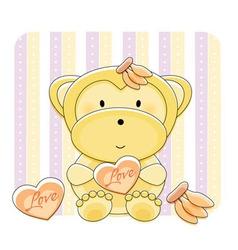monkey love cartoon vector image