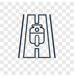 motorbike concept linear icon isolated on vector image