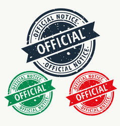 Official notice stamp vector