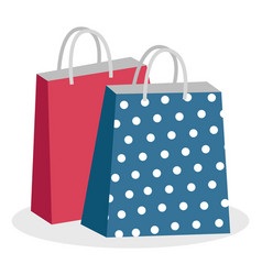 paper bags with handles shopping packages vector image