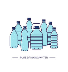 pure drinking water line of a vector image