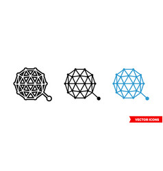 qtum icon 3 types color black and white vector image