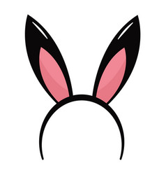 Rabbit ears headband vector