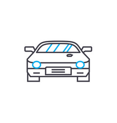 racing car thin line stroke icon racing vector image