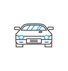 Racing car thin line stroke icon racing vector