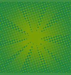retro rays comic green background vector image