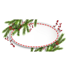 round frame and branches vector image