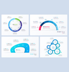 set minimal infographic templates 6 vector image