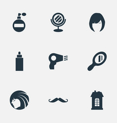 Set of simple hairdresser vector