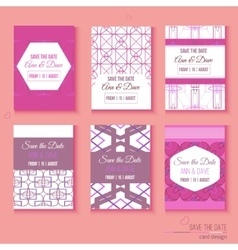Set of stylish multipurpose Save the date vector